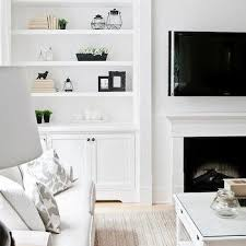 Contemporary Living Room Cabinets Fireplace With Built In Cabinets Contemporary Living Room