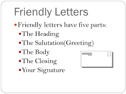 Casual Business Letter Closings Writing A Friendly Letter Ppt Video Online Download