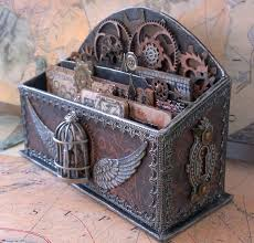 altered letter holder steampunk style starrgazer creates