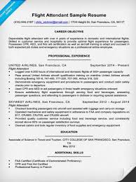 Job Objective In Resume by Flight Attendant Resume Sample U0026 Writing Tips Resume Companion
