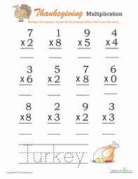 thanksgiving picture math worksheet squarehead teachers turkey