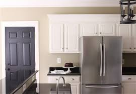 dazzling yellow and white painted kitchen cabinets green paint