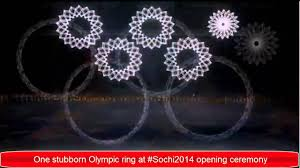 How Many Rings In Olympic Flag Olympic Ring Fail At Sochi 2014 Opening Ceremony Youtube