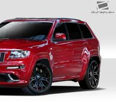 srt jeep red duraflex grand srt look body kit 4 pc for cherokee jeep 11 13 ebay