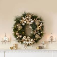 battery lighted fall garland 30 artificial wreath pre lit battery operated led lights products