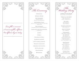 folded wedding program template tri fold wedding program template elitebuilder co