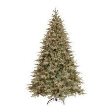 general foam 7 5 ft pre lit siberian frosted pine artificial