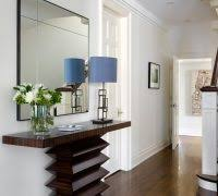 console entry table entry transitional with table lamp gallery wall