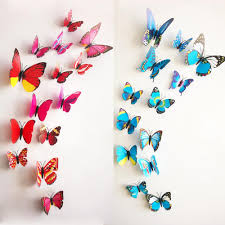 popular plastic decorative purple butterfly buy cheap new pcs lot vinyl purple butterflies for wall art decal removable home decoration diy
