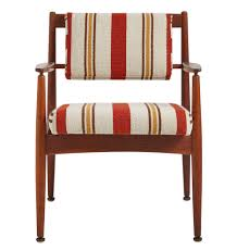 walnut jens risom chair model c160 w newly upholstered cushions