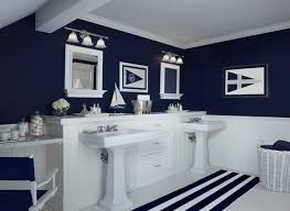 Navy And Green Bathroom Nautical Navy