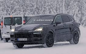 porsche snow 2018 porsche cayenne prototypes are playing in the snow