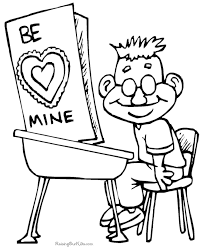 free printable valentine coloring pages 016