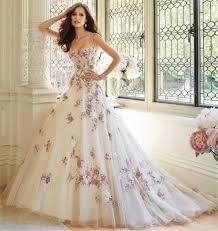 Purple Wedding Dress Luxury 2016 New Spaghetti Straps White Purple Lace Ball Gown