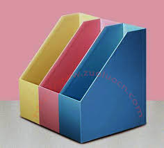 Customized Desk Accessories 3pcs Set Customized Office Paper Greyboard Document Tray Printing