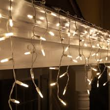 White Icicle Lights Outdoor Accessories Lighted Yard Decorations Clear White