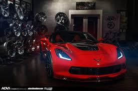 corvette stingray matte black red corvette z06 adv10 track spec cs wheels adv 1 wheels
