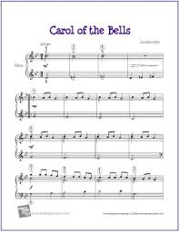 free sheet carol of the bells for easy piano the piano