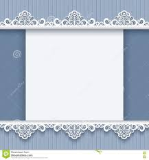 Borders For Invitation Cards Free Cutout Paper Background With Lace Borders Stock Vector Image