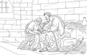 paul and timothy in prison coloring page free printable coloring