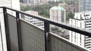 balconey balcony cat netting example pigeon busters youtube