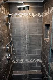 best 25 shower tile designs ideas on pinterest shower designs large tiles with smaller accent strips shower with emser tile s lucente concordia and strands twilight downstairs bathroomsmall