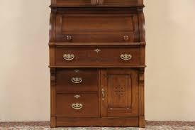 Secretary Style Computer Desk by Antique Roll Top Secretary Desk With Hutch Decorative Desk