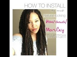 how many packs of marley hair for havana twist how to install natural looking havana marley twists with