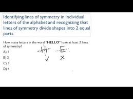 identifying lines of symmetry in individual letters of alphabets