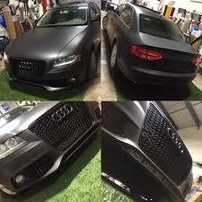 matte black car matte black color change car wrap u2013 2009 audi a4 sedan car wraps
