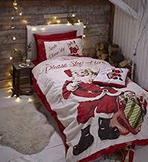 Flannelette Single Duvet Cover Father Christmas Flannelette Single Quilt Duvet Cover And