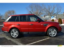 land rover red rimini red 2010 land rover range rover sport hse exterior photo