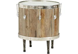 rooms to go accent tables eric church highway to home heartland falls brown drum accent table