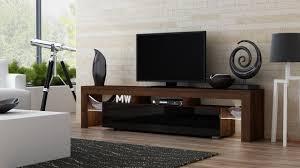 Modern Furniture Tv Stand Amazon Com Tv Stand Milano 200 Walnut Line Modern Led Tv
