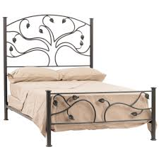 iron bed frame queen size and unique tree headboard decofurnish