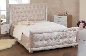 Crushed Velvet Bed Sweet Dreams Matrix Crushed Velvet Bed Frame Fabric Beds Beds