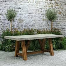 concrete top outdoor table concrete outdoor dining table takeabreak me