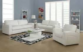 White Leather Living Rooms Insurserviceonlinecom - White living room sets