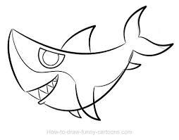 shark drawing sketching vector
