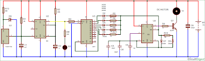 wireless dc motor speed control circuit using ir remote and 555