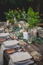 rustic table setting ideas rustic chic table settings home design