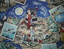 Rocket Ship Curtains by Cool Vintage Space Astronauts Drapery Panels 1960 U0027s