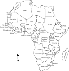 africa map black and white large scale maps