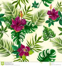 tropical wrapping paper tropical plants flowers seamless pattern rainforest opulent
