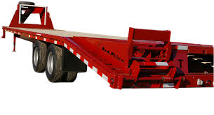 red rhino flatbed gooseneck trailers by gobob pipe u0026 steel sales