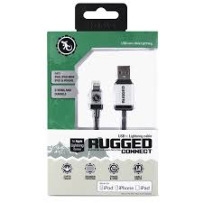 Rugged Lightning Cable Gecko Rugged Lightning To Usb Round Cable 1 5m White Gecko Gear