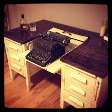 Shabby Chic Secretary Desk by 1950 U2032s Vintage Shabby Chic Typewriter Desk Original Constructs