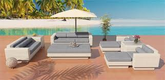 europa outdoor wicker sofa with daybed and chaise ottos by las
