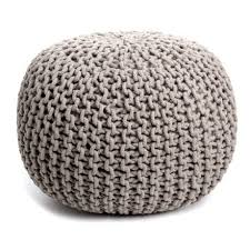Woven Pouf Ottoman Woven Bohemian India Made Pouf In 5 Colors