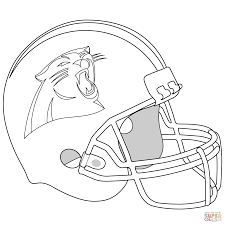 football helmet carolina panthers coloring page inside carolina